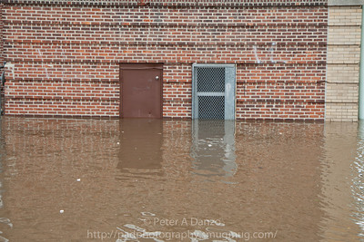 Lodi NJ, the Washington Elementary School, Main St & Kennedy St. 5+ ft of flood water.