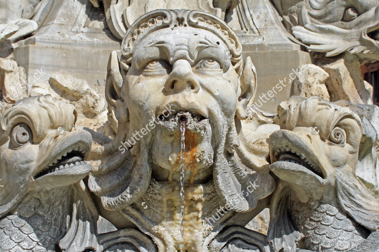 7. Maybe have the heads of the family as part of the fountain?!