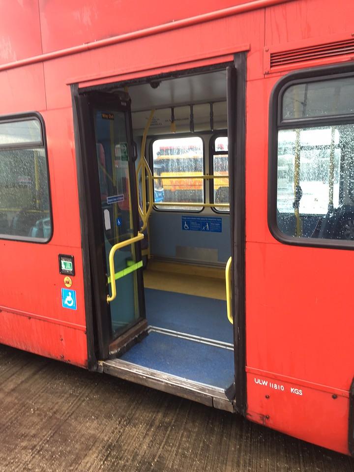 View through rear doors.