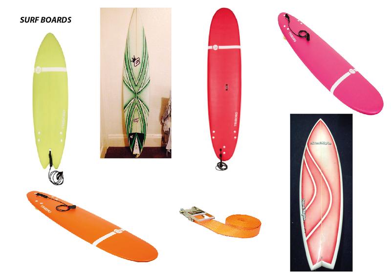 Surf Boards for Camper Van Roof.