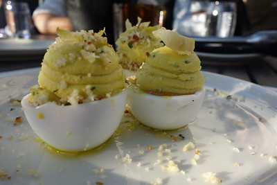 Deviled Eggs, Anchovy Soaked Bread Crumbs