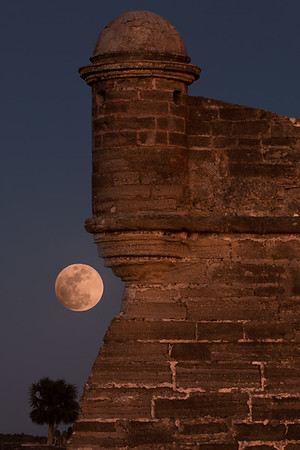 Fortress lit by Moon