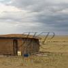 Maasai mud hut in Kenya Africa