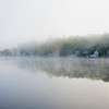 Foggy Highland Lake in Connecticut