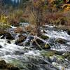 China's Jiuzhaigou Naitonal Park landscape, waterfalls