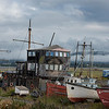 Abandoned shipyard on a cloudy afternoon in Alaska
