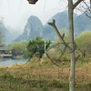 China's Shangrila countryside, with hanging lanterns