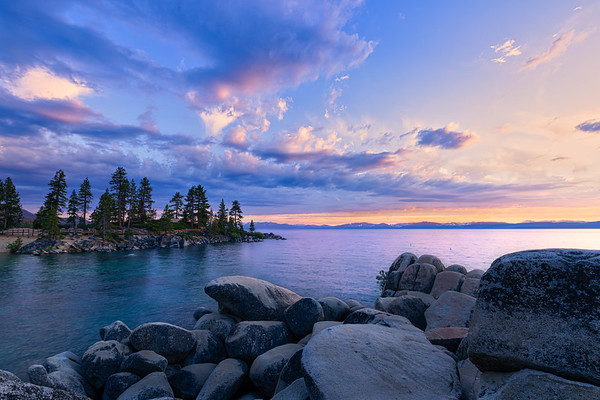 Sand Harbor sunset