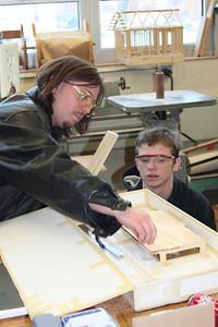 Working on a wood prototype.