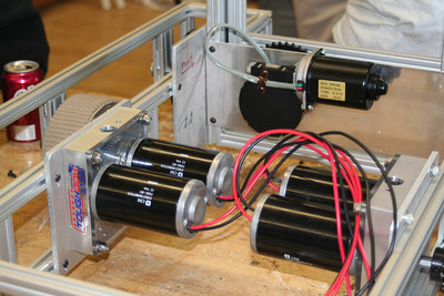 The motors on the drive train.