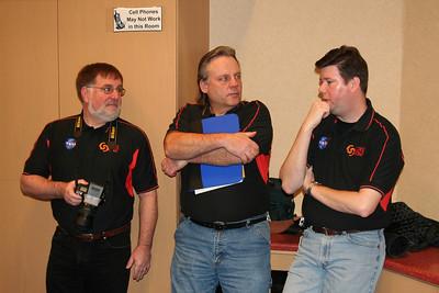 Mr. Katte, Mr. Skurlsky, and Dr. Skloss talk at the kickoff event.
