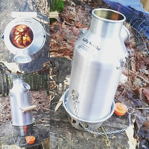 My bushcraftinus #kellykettle for #coffee in the #woods and while #fishing