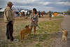 Lorraine Chittock and her two Dogs mingling with Overland Experience ticket holders - EXPO 2010
