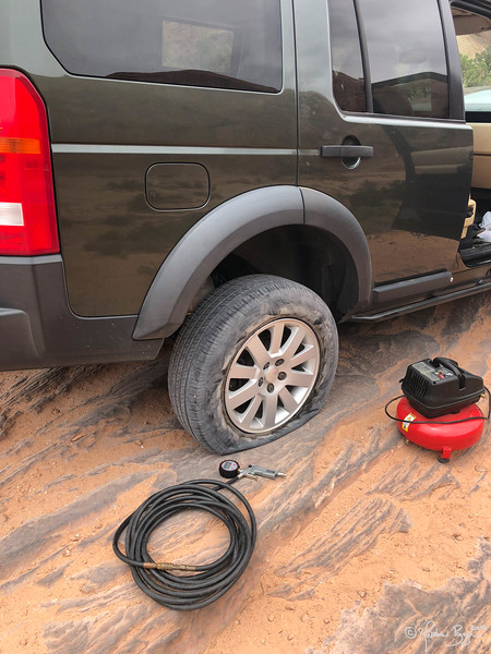 LR3 Flat Tire...no surprise really.