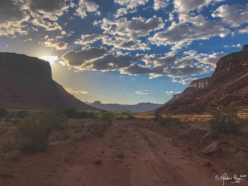 Kane Creek Rd. (In reverse heading towards Moab)