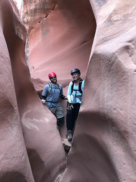 Erika's first canyoneering trip.