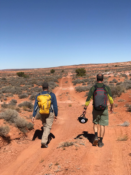 Grayson and Matt leading the way into my first canyoneering trip.