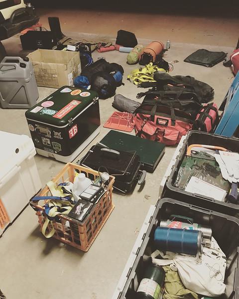 Packing/organizing/consolidating.