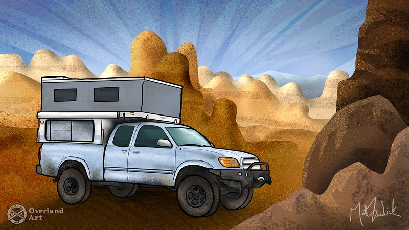 JBone_112 's '05 Tundra setup in the Alabama Hills.