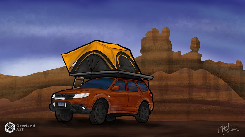 Aaron R's '09 Subaru Forester overland build