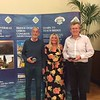 Mens Pairs winners - Nelson Stephens & David Jones (with Hannah Williams of Bridge Overseas - centre)