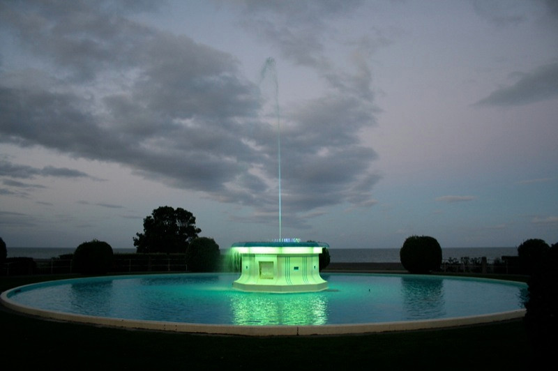 Fountain changes colours all night.jpg