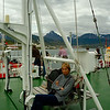 On the flying deck on Polar Pioneer. Remarkably, things improved.