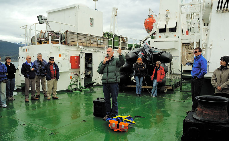 Zodiac briefing on the aft deck. I still don't know what my stars were for the day.