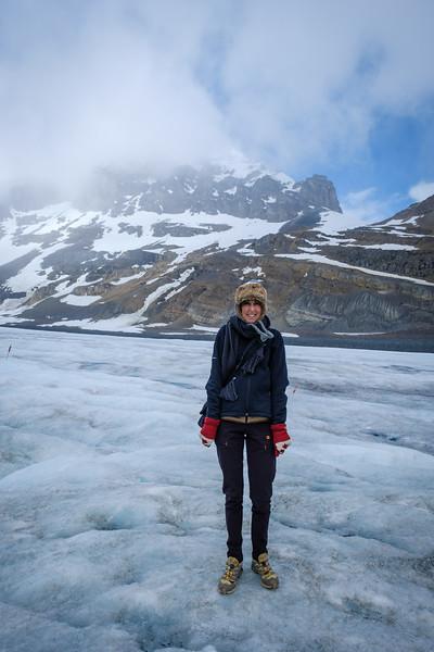 At Athabasca Glacier