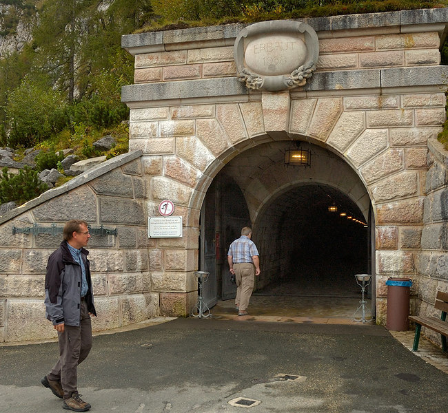 Outside entrance to the tunnel to Hitler's Tea House