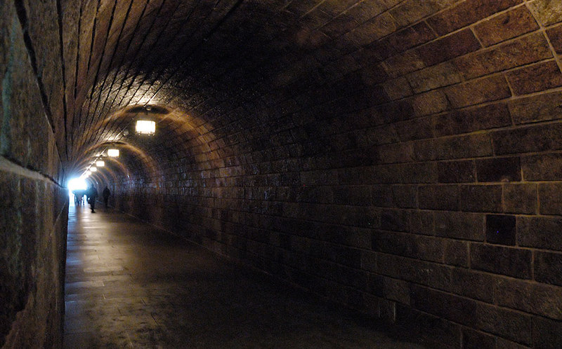 Tunnel into the entrance lobby to Hitler's Tea House