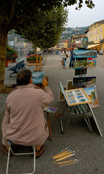 Ascona - we bought a small painting from him.