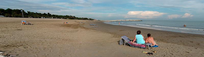 Cavallino beachside on the Adriatic