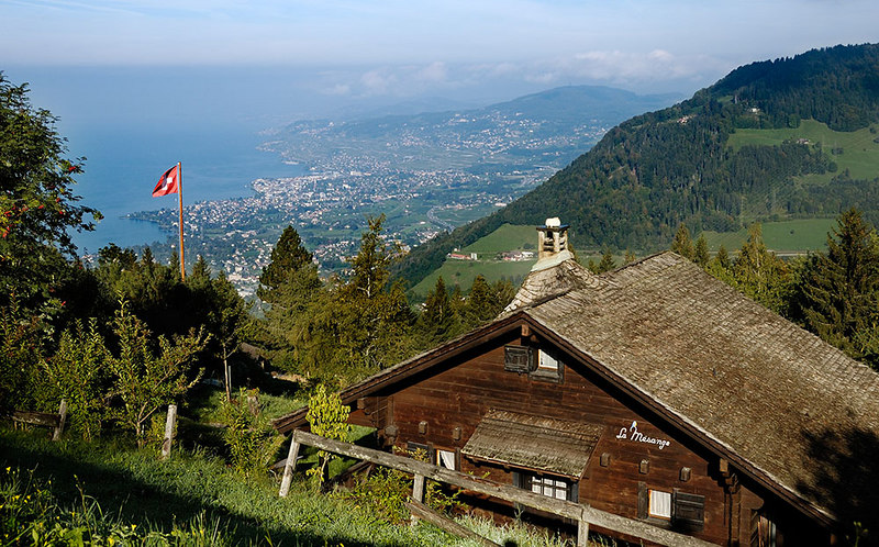 Montreux from Caux