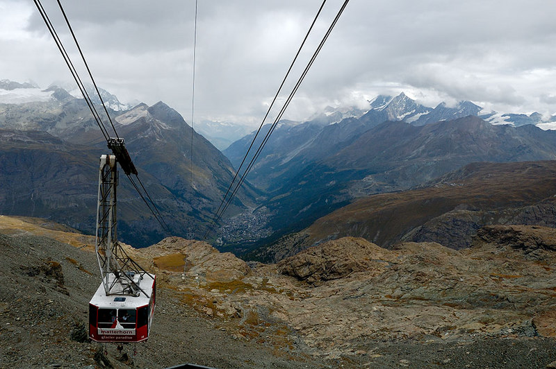 Zermatt from the cable car