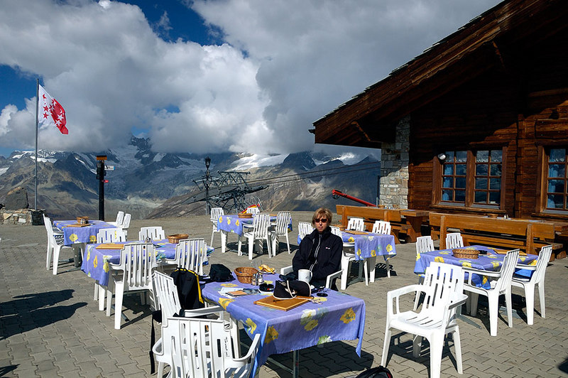 Cafe on top of Rothorn