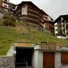 In Zermatt - our apartment - entrance was through a tunnel and then a lift up to the 'ground' floor.
