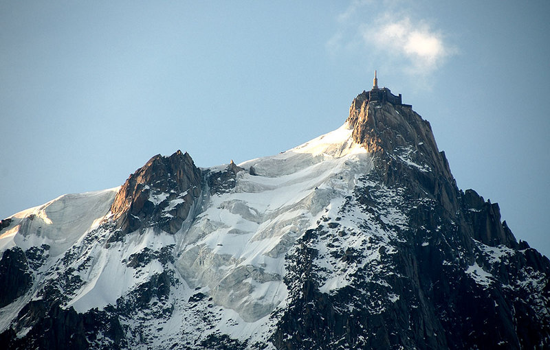 In Chamonix; Castle on a peak above the town