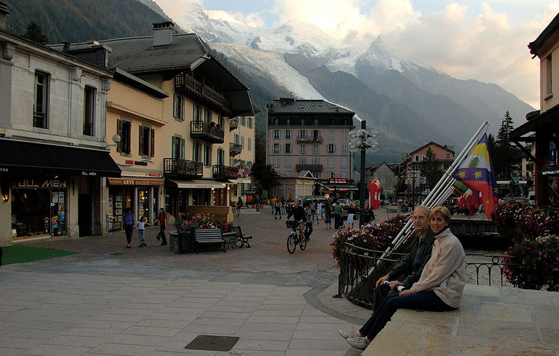 In Chamonix - Mont Blanc in the background