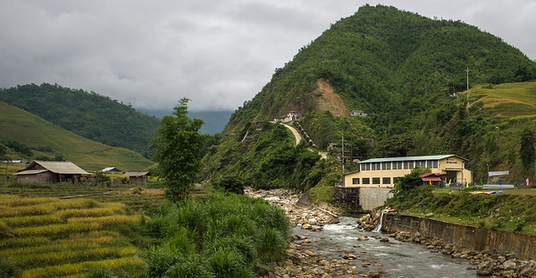 A hydro power station serving a small village