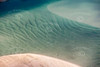 An aerial image of beautiful, clear sea and golden sand. Noosaville Australia.