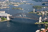 Sydney Harbour Bridge from the air.
