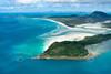 Aerial photo of The Whitsundays.