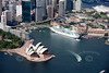 Sydney Opera House from the air.
