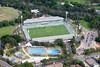 Parramatta Stadium from the air.