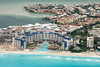Cancun in Mexico from the air.