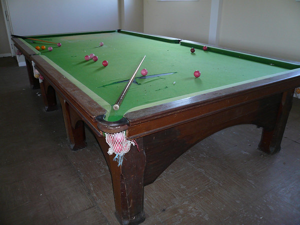 Complete with snooker table