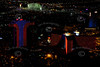 Las Vegas night time aerial photos.