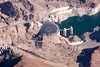The Hoover Dam from the air.
