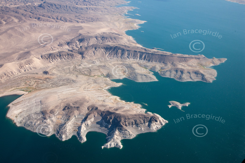 Lake Mead from the air.